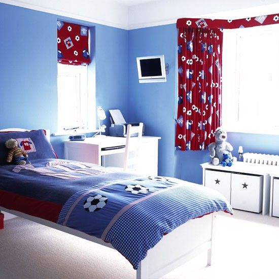 Football Themed Bedroom Entrancing Boys Bedroom Ideas And Decor Inspiration  Bedroom Boys Bedrooms Inspiration Design
