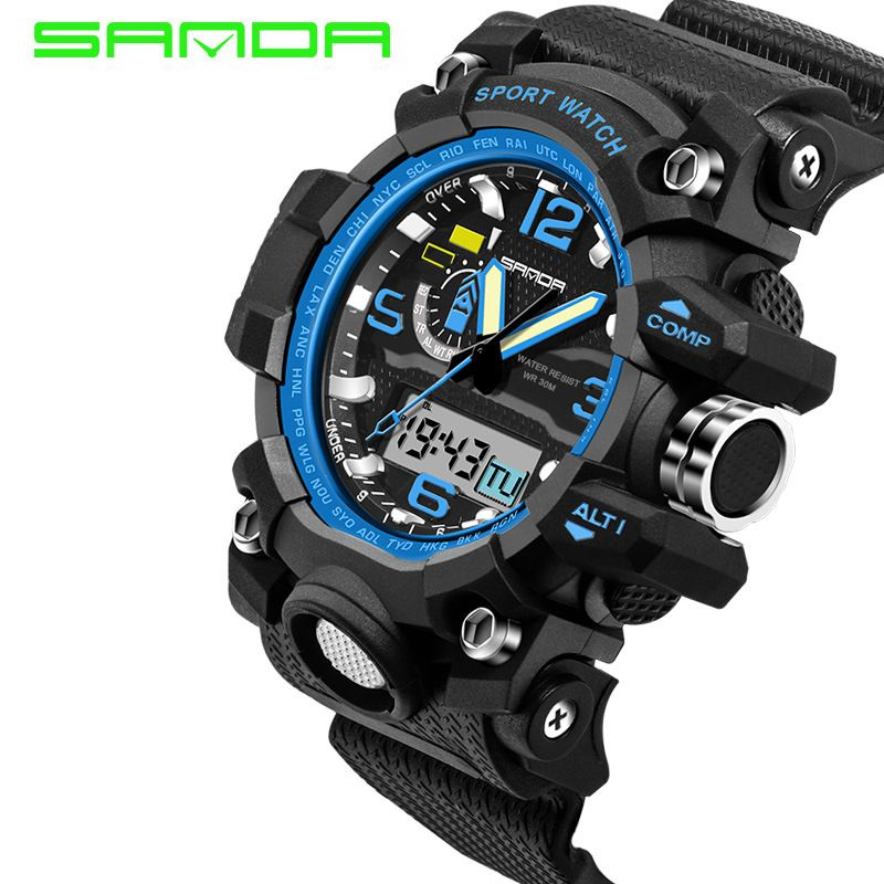 66b52baea45  Free Shipping  Buy Best SANDA Men G Military Watches Shock Digital Sports  Watches Online with LOWEST Price