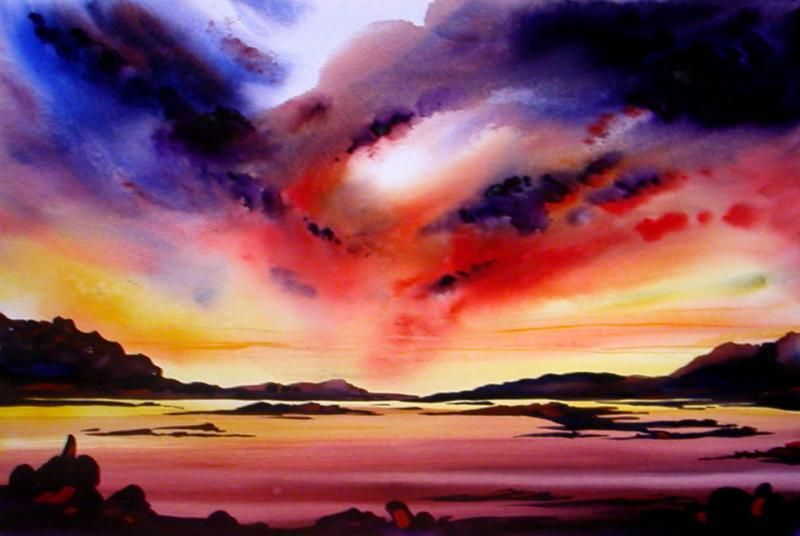 Easy Watercolor Paintings Of Sunsets - Arts ...