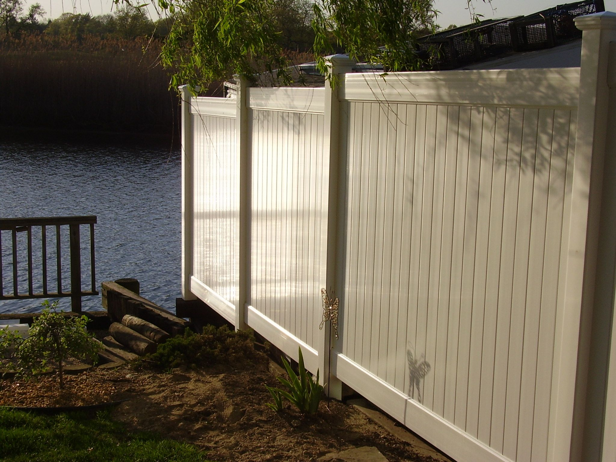72 Tan Infinity Solid Pvc Privacy Fence Stepped Down Fabricated