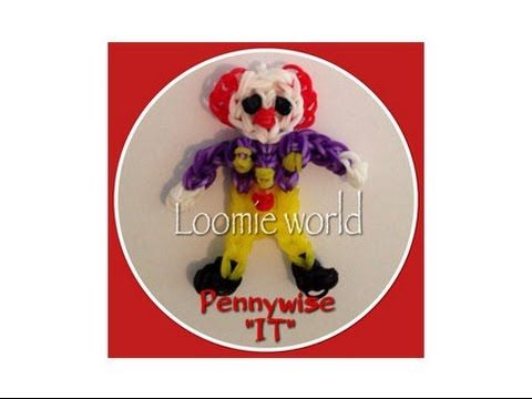 PennyWise Rainbow Loom Bands Charm Figure by Loomie World How to - YouTube