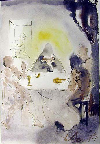 Et Cognoverunt Eum In Fractione Panis 1964 Salvador Dali By