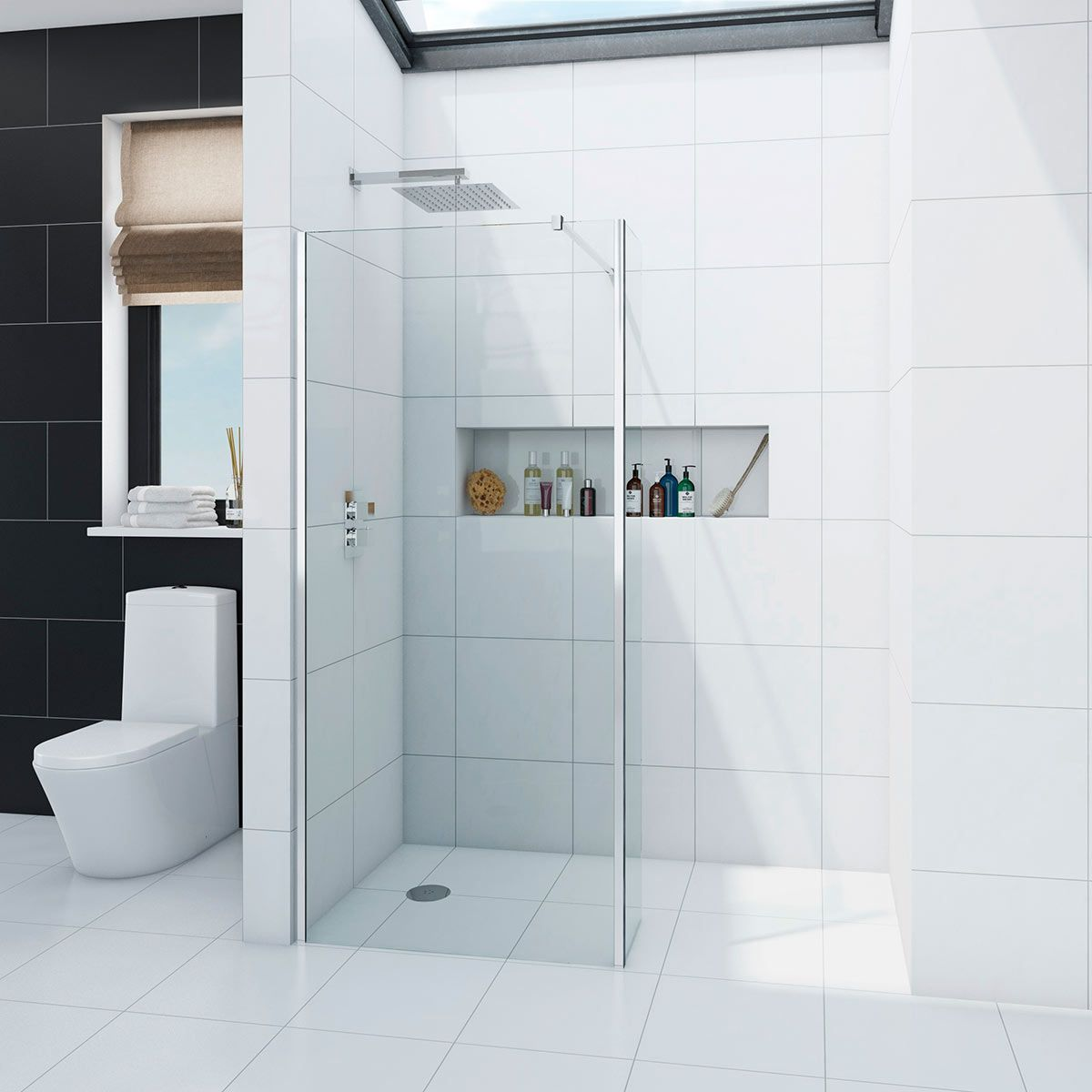Orchard 8mm wet room glass panel with return panel | Pinterest | Wet ...