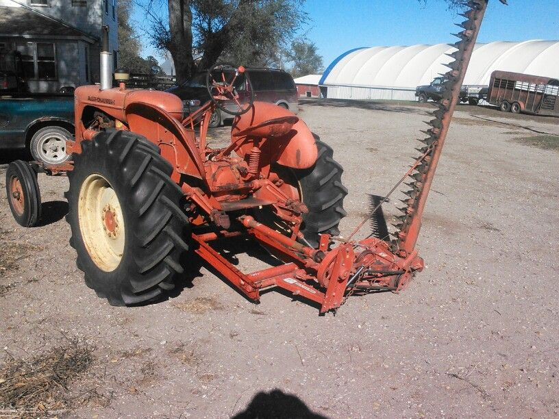 Wd45 With 80r Sickle Mower Allis Chalmers Pinterest