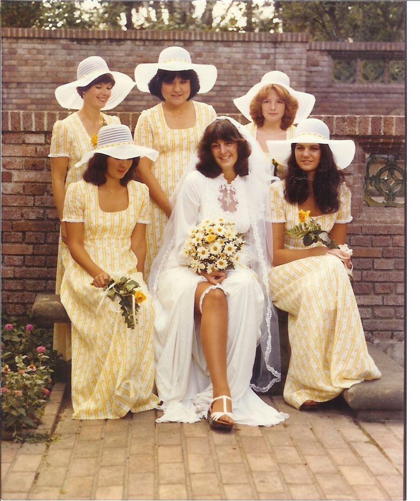 Ugly Wedding: 1980 Bride With Her Attendants