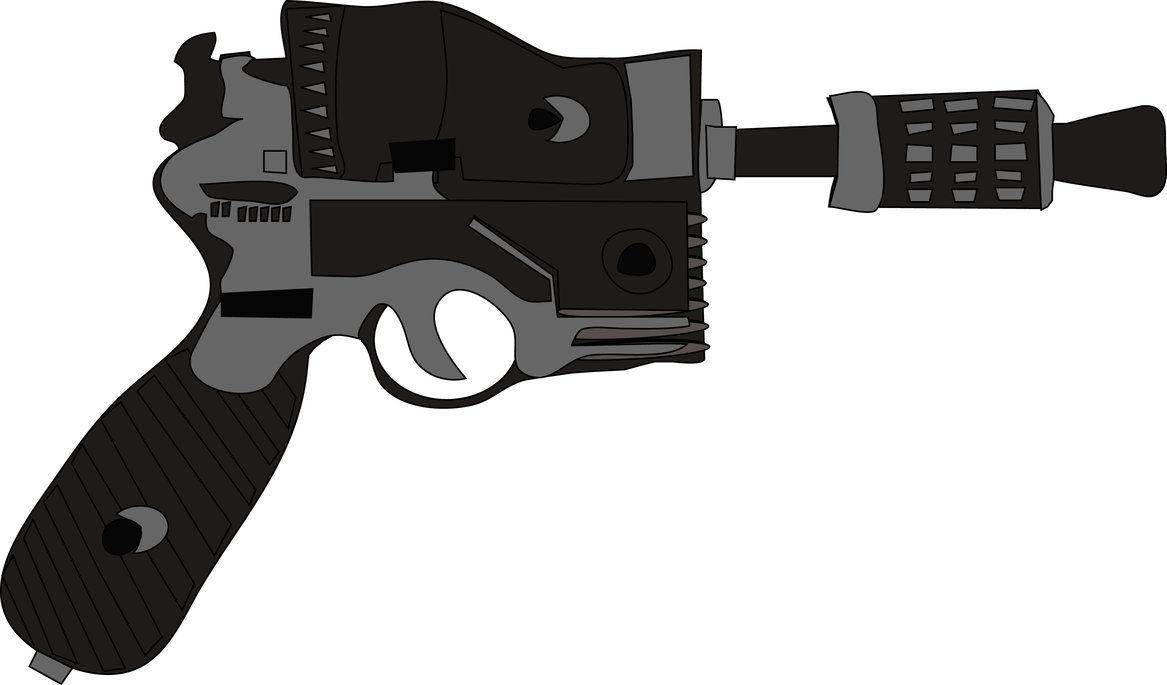 Blaster made in illustrator  #sw #starwars | My Art | Hand