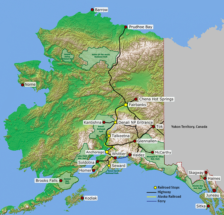 Map Of Alaska Railroad Roads And Ports This Is Alaska In 2019