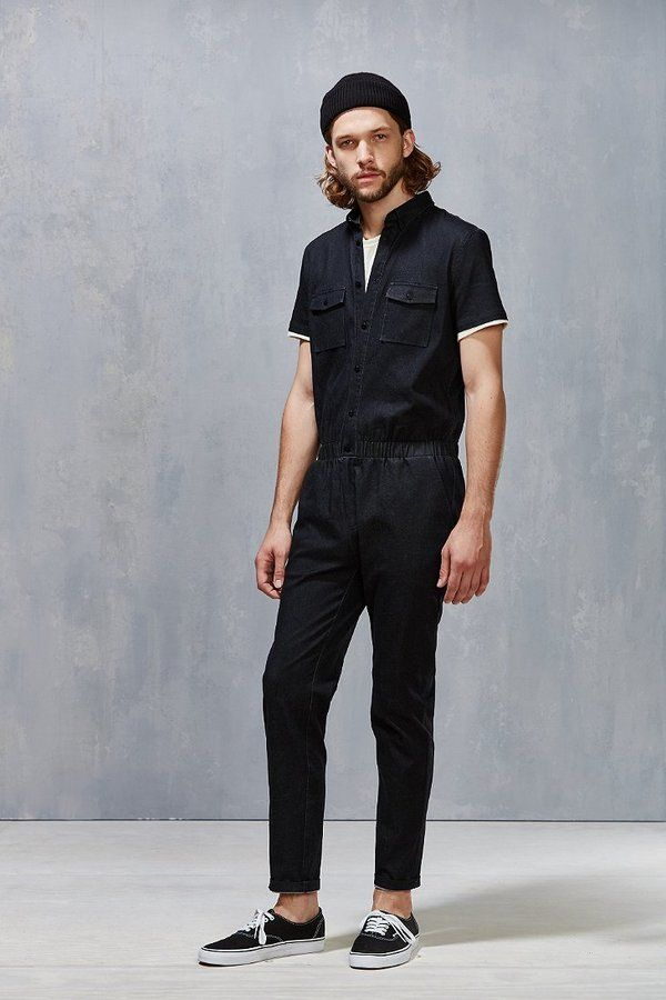 d10e282a4a3a Standard Issue Black Denim Jumpsuit