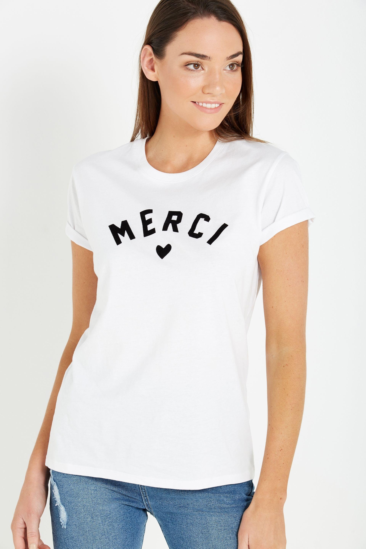 549c4f8cc Tbar Fox Graphic T Shirt, MERCI/WHITE | S1 | Womens band tees, T ...
