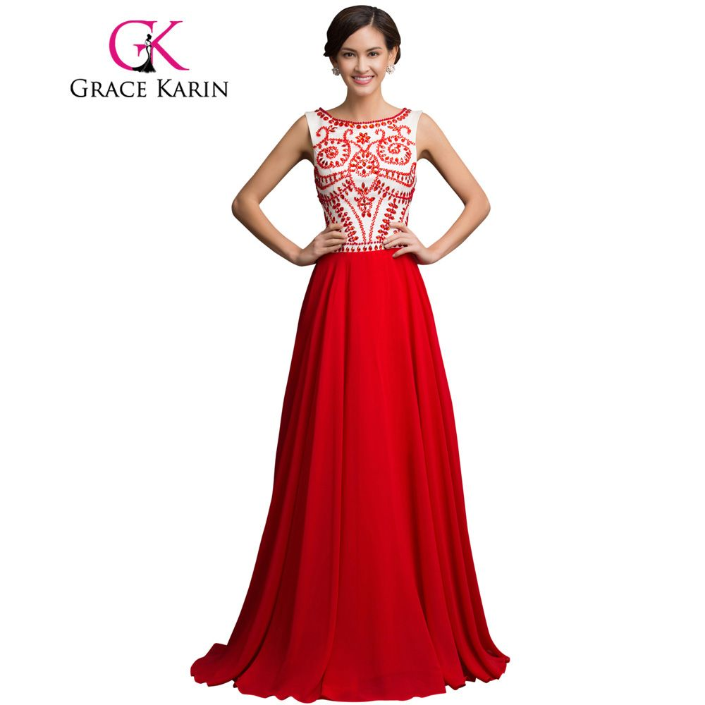 Grace Karin Long Prom Dresses 2017 galajurken Grace Karin Chiffon ...