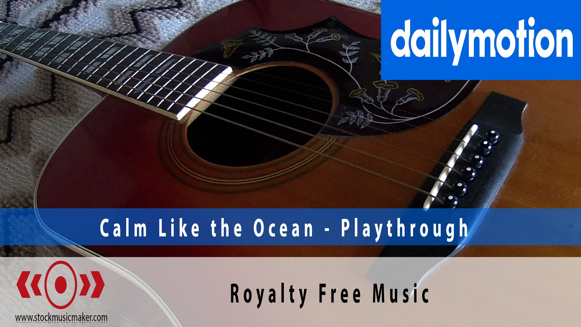 So from now on, it's DailyMotion. A place where you can find videos of me plyaing guitar through my stock music library. If you like what you see, please share. Thanks