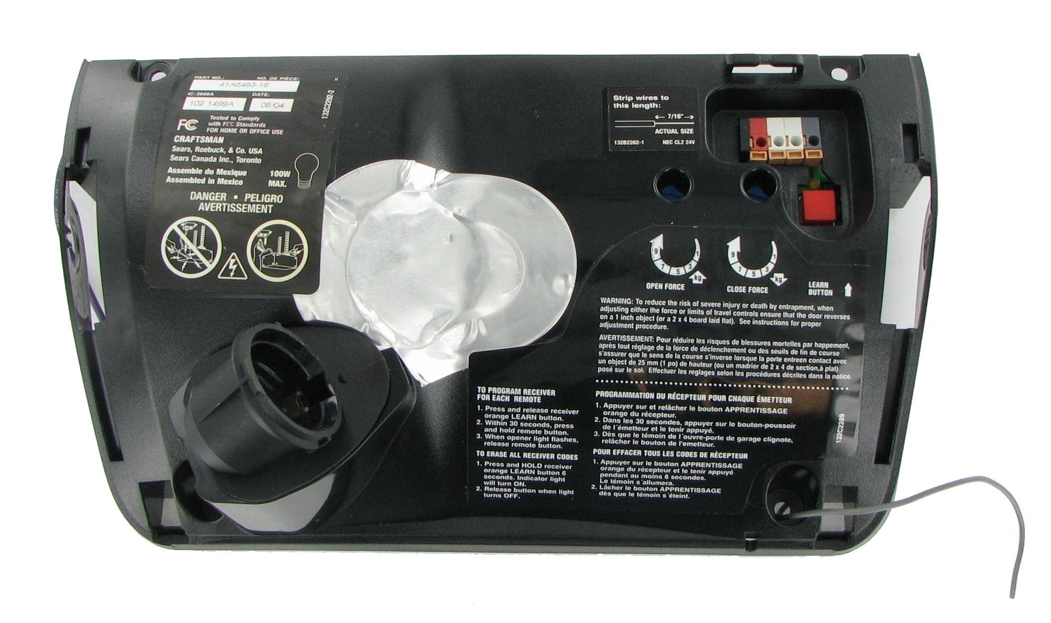 Craftsman Chamberlain 41a548318r Home Garage Door Opener Logic Control Board Chamberlain Garage Door Garage Doors Garage House