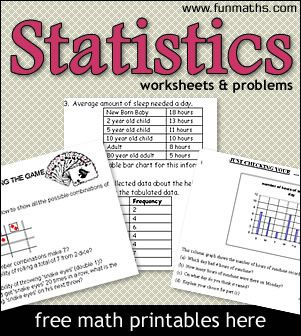 Statistics Worksheets Problems Printable Math Worksheets For High School Statistics And Probabil High School Math Statistics Math Printable Math Worksheets