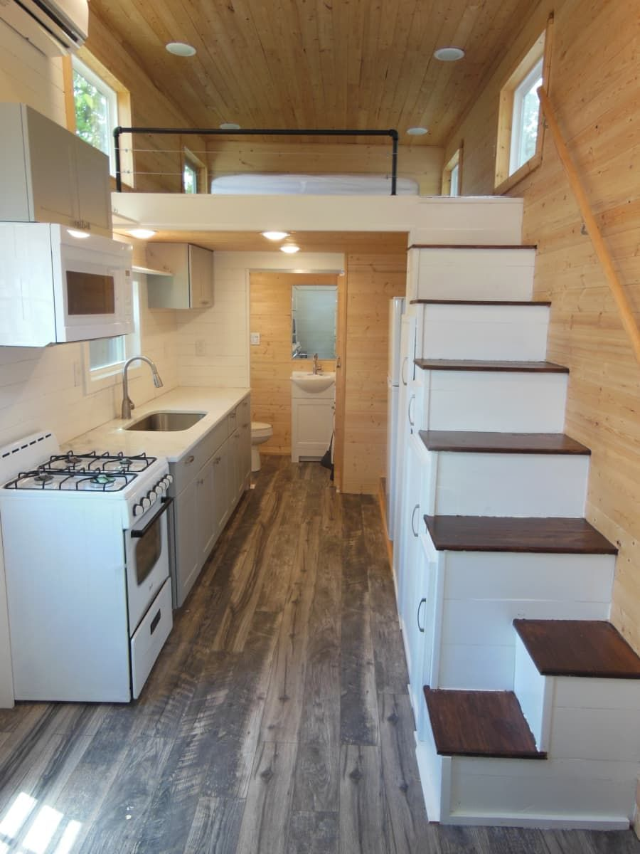 24 Tiny Home With Open Floor Plan And Loft Bedroom Updated Tiny House For Sale In Conroe Texas Tiny House Listings Tiny House Loft Tiny Houses Plans With