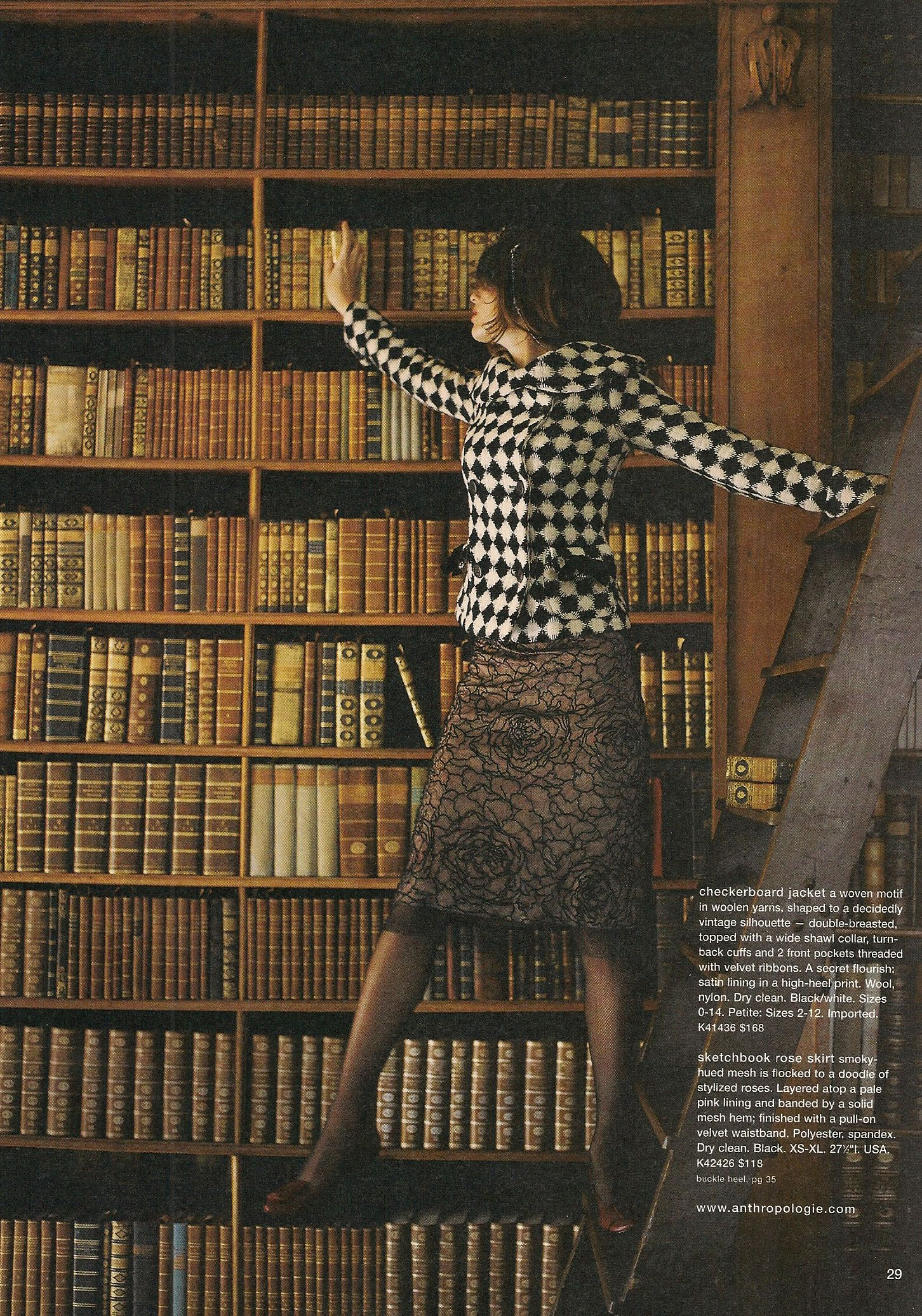 Library-Themed Catalogue Shoot, Anthropologie Autumn 2004 ...
