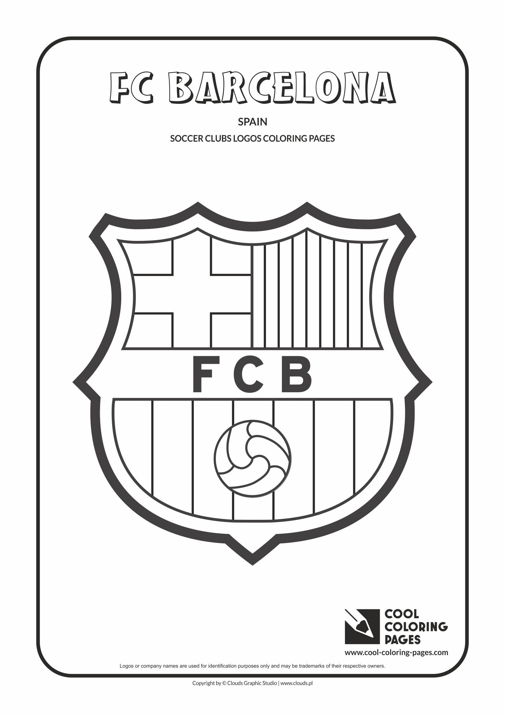 Cool Coloring Pages - Others / FC Barcelona logo / Coloring page ...