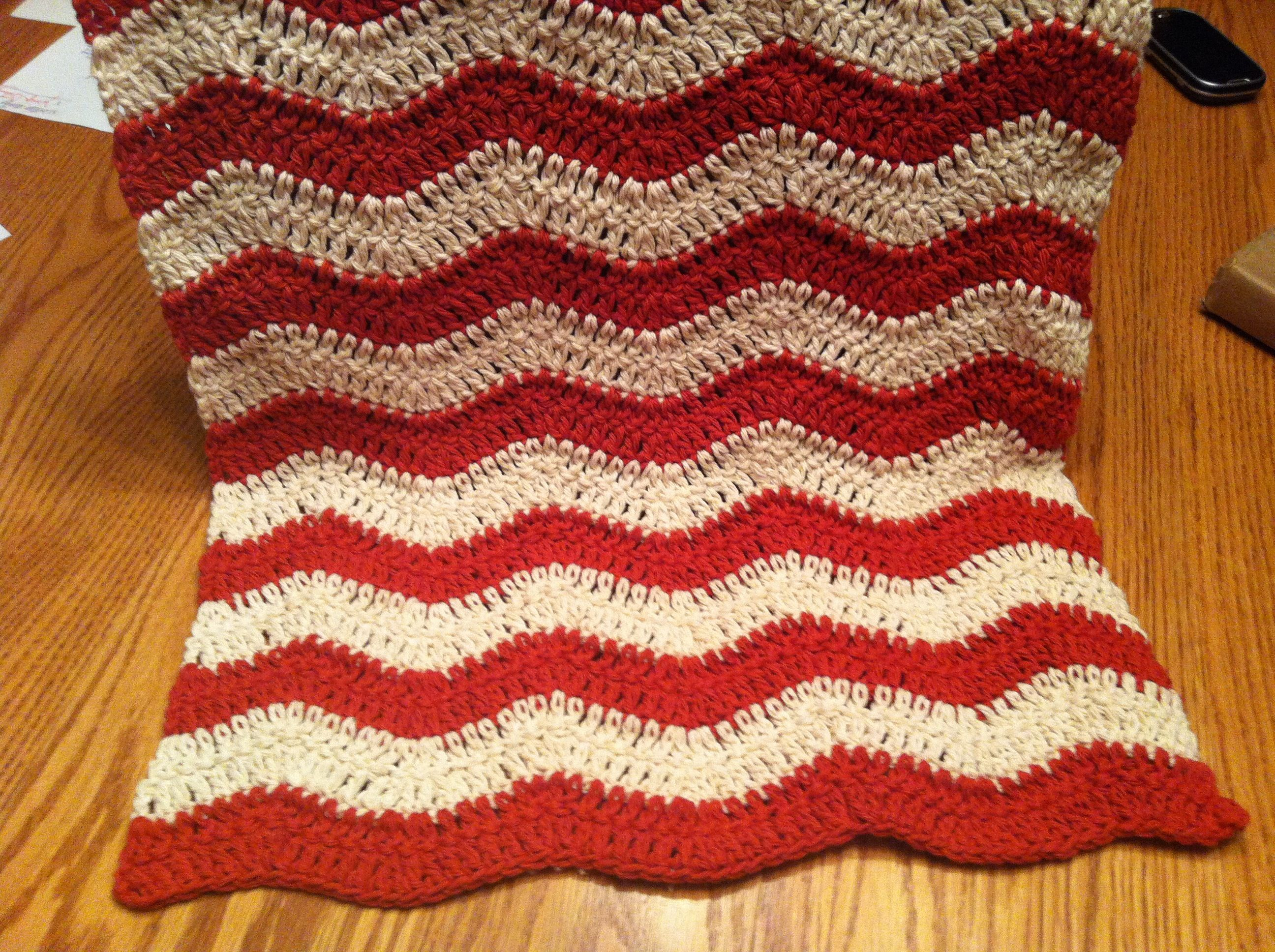 Crocheted dish towel in a zigzag pattern, I love it! | Made by me ...