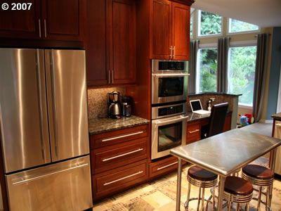 Kitchen color caoba clasico | Gabinetes de Cocina y Pantrys ...