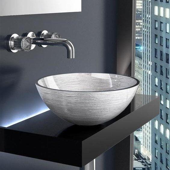 Countertop Wash Basin Metropole Round 40cm Silver Gyalinos Nipthras Mpanioy Ashmi Metropole Round 40cm By Gla Modern Bathroom Vanity Wash Basin Terrace Decor