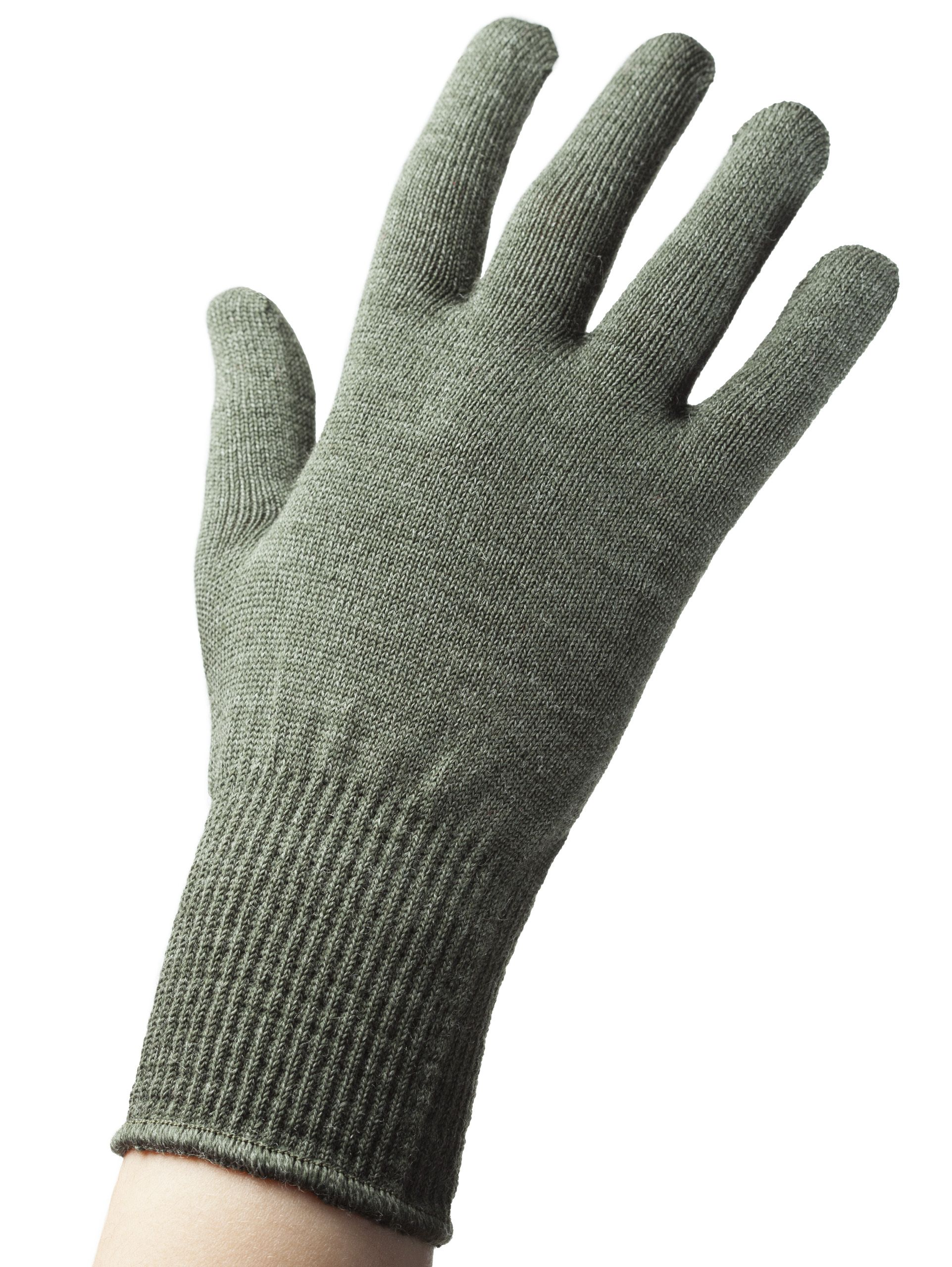 b9642a70b62 EDZ Merino Wool Gloves Green seamless knitted glove that can be worn as a  liner glove or as thin gloves