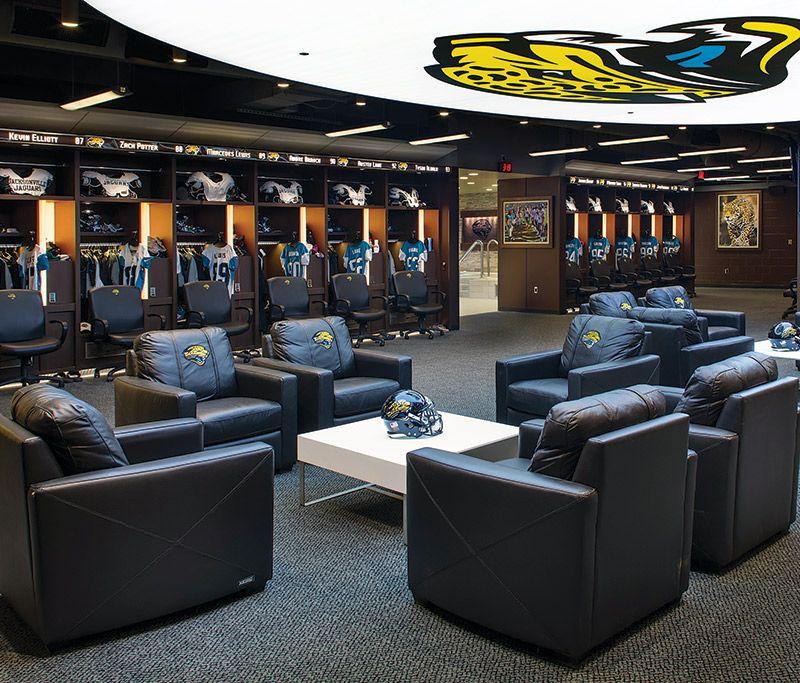 Football Locker Room Design Inside The Modern Team Locker Room Athletic Business
