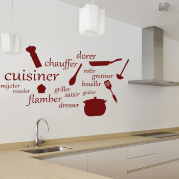 Sticker En Orange Stickers Cuisine Decoration Interieure