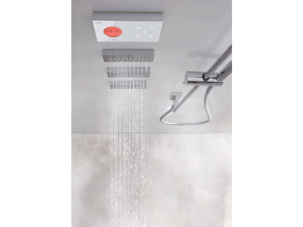 Tres Shower Technology Inbouw Regendouche Set Elektronisch Met 50x50