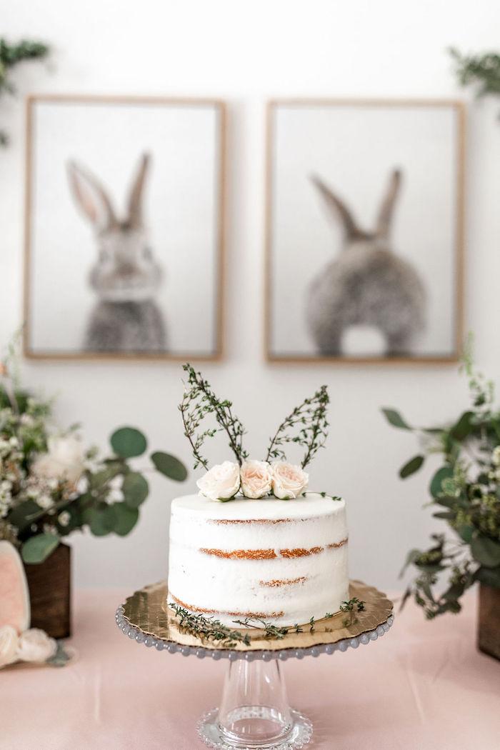 Kara's Party Ideas Pastel Bunny Baptism Party Kara's