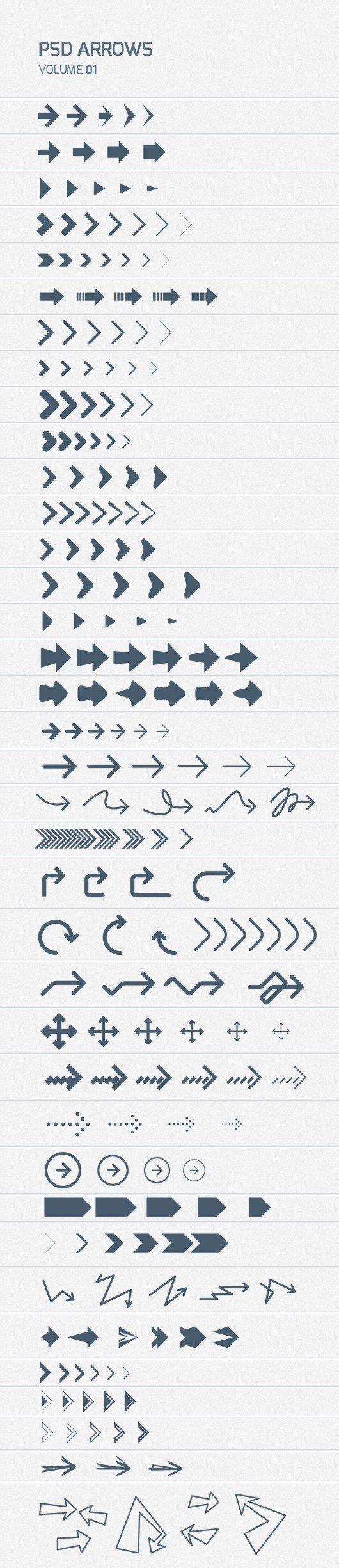 200++Free+Psd+Arrows Icon design, Design freebie, Tool