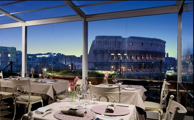 Located Right In Front Of The Colosseum Rooftop Terrace And Restaurant Aroma At Palazzo Manfredi Is Where You Can Enjoy Best Views Rome