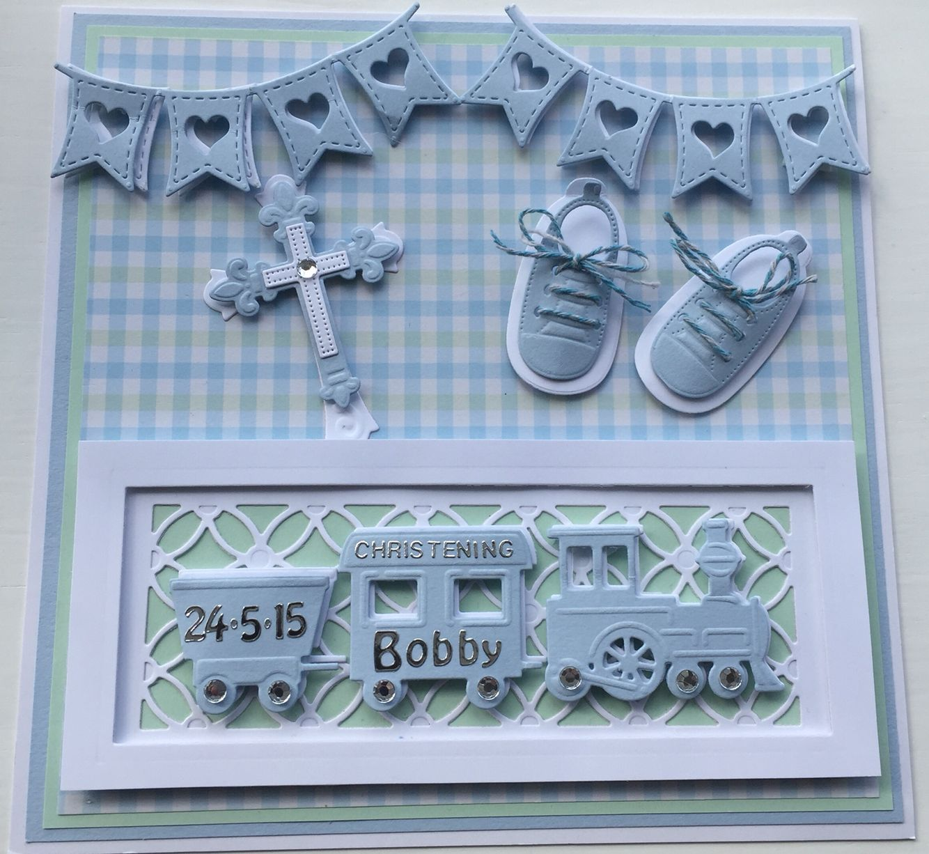 Christening Cards by Sospecial Cards using Marianne Dies                                                                                                                                                                                 More