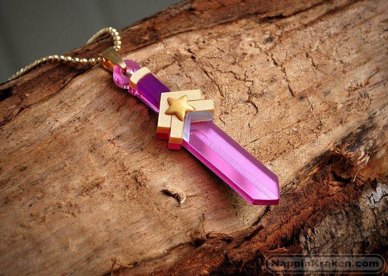 Steven Universe Acrylic Necklace Rose Quartz/'s Sword