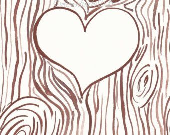 template for initials carved into a tree trunk jpg file