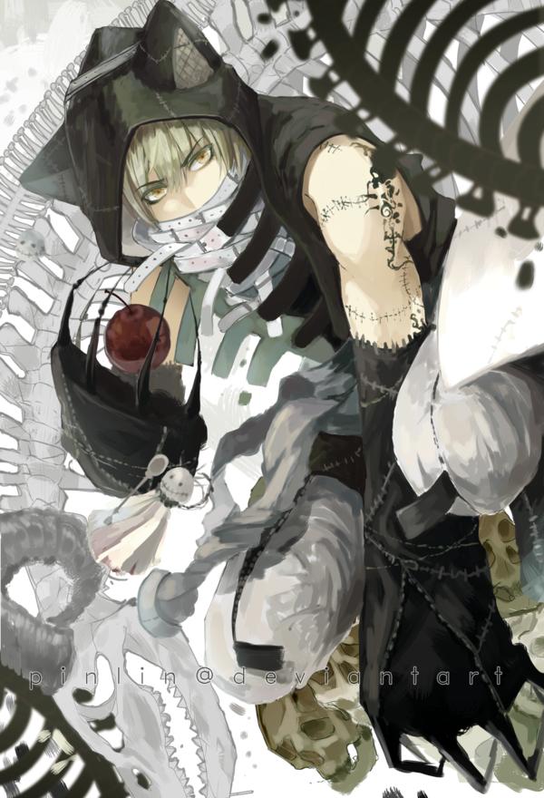 Anime Mc Holding A Black Cat Wallpaper