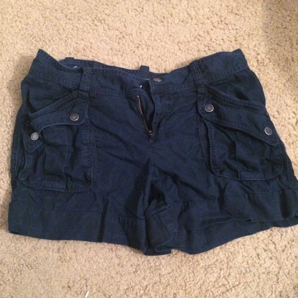 blue shorts ann taylor blue snap pocket shorts, worn during one summer. Ann Taylor Shorts