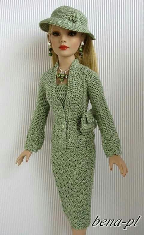 traje crochet | Ropa Barbie Marisa | Pinterest