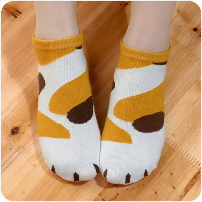 Photo of Cute Cat Paw Ankle Socks – 5 Pair Pack
