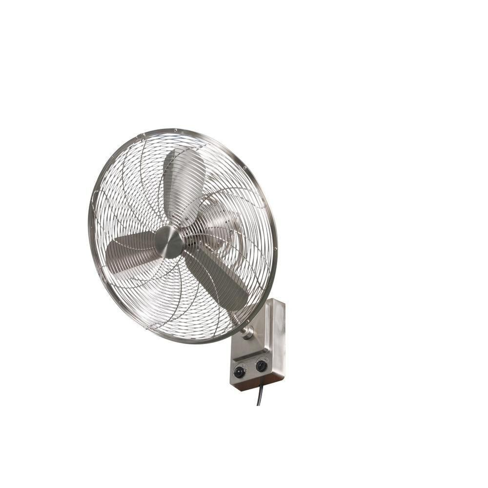 Home Decorators Bentley Iii 22 In Brushed Nickel Oscillating Wall Fan Wall Fans Wall Mounted Fans Fans For Sale