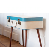 DIY suitcase-table. Really love this one!
