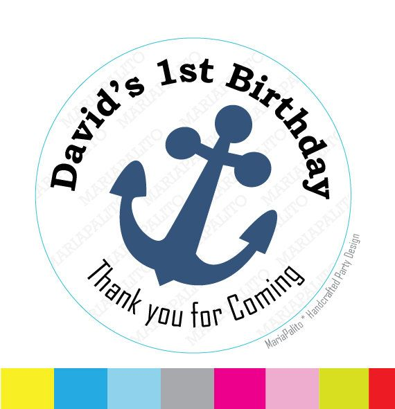 Anchor personalized sticker label sticker round stickers tags labels or envelope seals a769