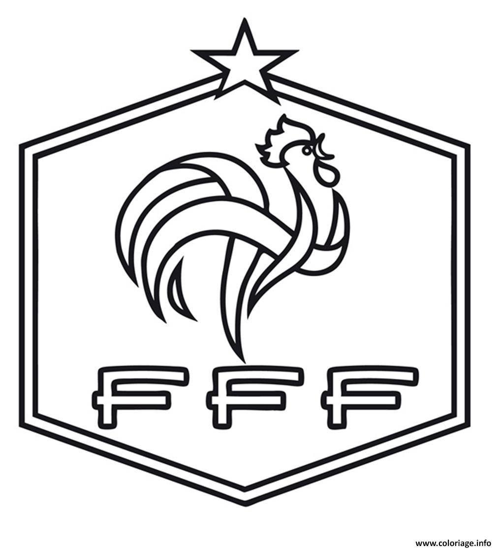 Coloriage Foot France Fff à Imprimer Bureaux Coloriage