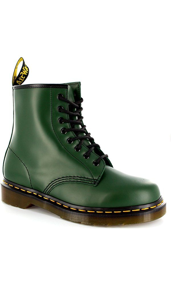 06faa213b Womens Dr. Martens 1460Z 8 Eyelet Smooth Leather Oxford Combat Army Boot -  Green - 5 Best Price