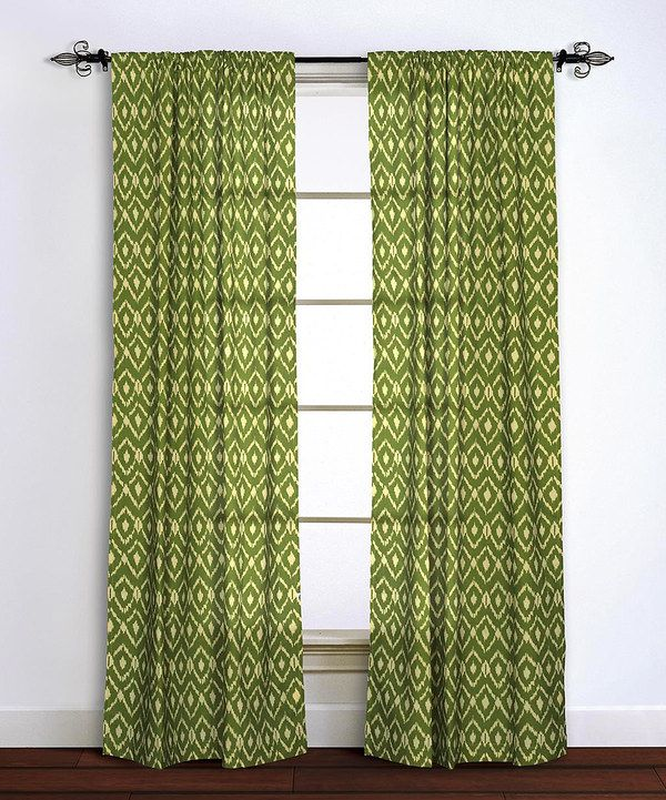 Look At This Sage Green Ikat Curtain Panel On Zulily Today
