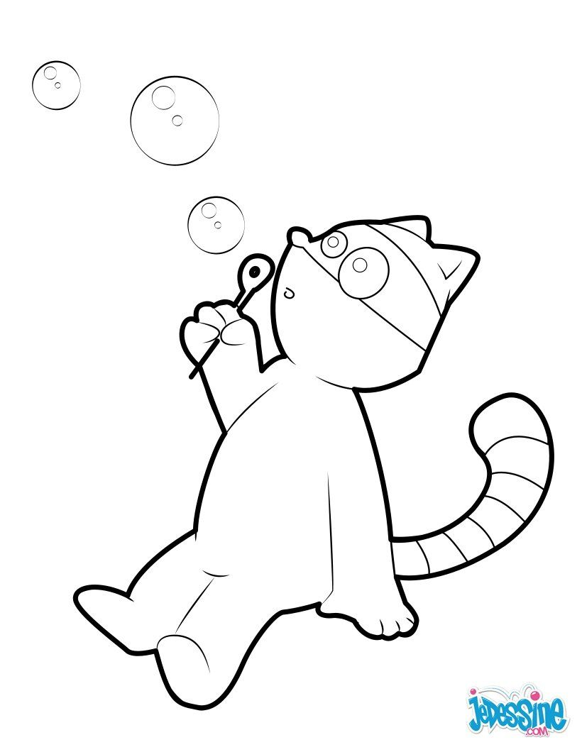 Racoon blowing bubbles coloring sheet. More animals coloring pages ...