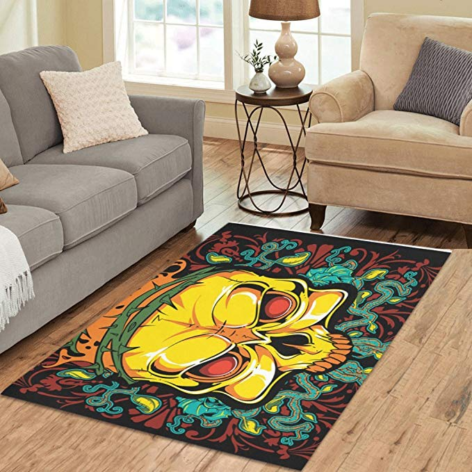 Amazon Com Interestprint Gogogosky Custom Dark Poison Area Rug