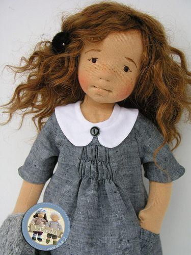 Helena – natural fiber art doll by Lalinda