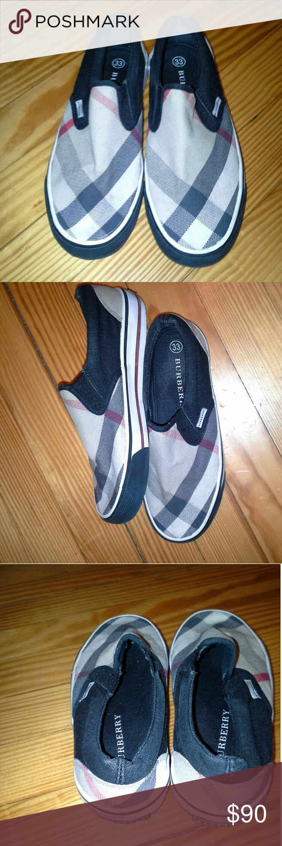 "Burberry Boy's ""Elm"" Slip On Sneakers...Sz: 33 Authentic Burberry Boy's Slip-On Sneakers  Sz: 33  Preowned in Good Condition Burberry Shoes Sneakers"