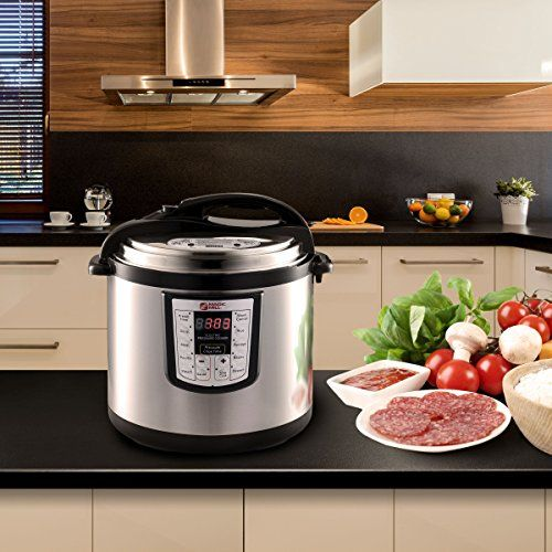 Magic Mill 10QT 1400W Electric Pressure Cooker with Steam Rack