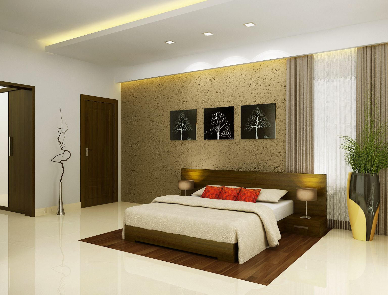 Merveilleux Bedroom Design Kerala Style · Home Interior ...