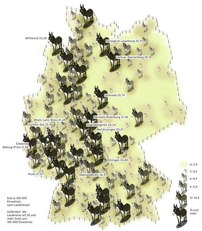 Deutschlandkarte Leben Mit Eseln Deutschlandkarte Karten Und
